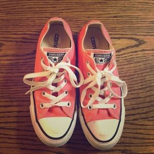 CONVERSE ALL STAR sz.6 neon pink- good condition